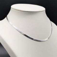 Su exclusivo Collier real plata 925 Sterling plata halsreif señora collar