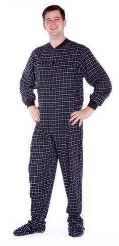Big Feet Pajamas Adult Black Check Flannel One Piece Footy $44 - SHOP https://www.thepajamacompany.com/big-feet-pajamas-adult-black-check-flannel-one-piece-footy.html?category_id=11469