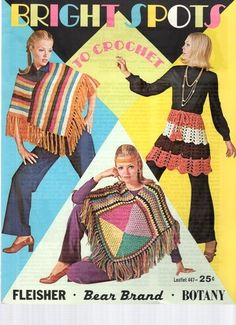hello there ponchos, i've been missing you in my life --- Fleisher Crochet Ponchos
