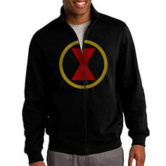 Mens Black Widow Comic Logo Zipper Pullover Hoodie Sweatshirt -- Find out more about the great product at the image link.