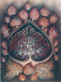 bho leaf, tree of life