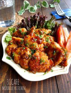 ♡超簡単モテレシピ♡むね肉deハニーマスタードチキン♡【#時短#節約#鶏むね肉#蜂蜜】 : Mizuki