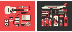 A selection of various icons and editorial pictograms