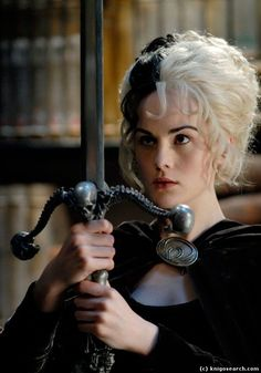 Michelle Dockery as Susan in The Hogfather << you have literally no idea how happy this makes me Discworld Books, Terry Pratchett Discworld, Terry Pratchett Death, Michelle Dockery, Terry Pratchett's Hogfather, Lady Sybil, Creepy Pictures, Color Magic, People Of Interest