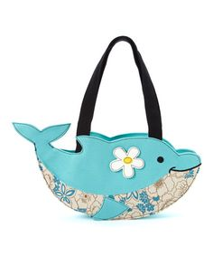 Look at this #zulilyfind! Blue Dolphin Shoulder Bag #zulilyfinds