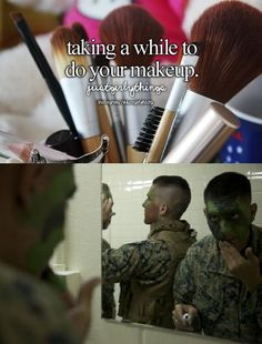just girly things vs military Military Quotes, Military Humor, Military Personnel, Military Life, Military Ball, Army Quotes, Soldier Quotes, Boyfriend Quotes, Quotes Quotes