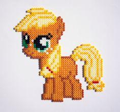 sandylandya@outlook.es  My Little Pony Filly Applejack Hama Perler by StrepiePixelCrafts