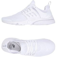 Nike Low-tops & Sneakers ($145) ❤ liked on Polyvore featuring shoes, sneakers, white, nike shoes, nike, nike trainers, low top and rubber sole shoes