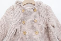 Knit Baby Dress, Knitted Baby Cardigan, Baby Coat, Baby Knitting, Crochet, Sweaters, Dresses, Fashion, Knit Baby Patterns