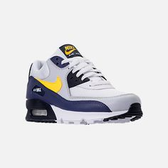 hot sale online b0192 28641 Three Quarter view of Men's Nike Air Max 90 Essential Casual Shoes in  White/Tour