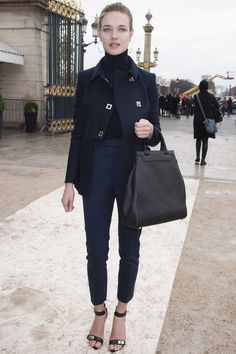 Natalia Vodianova and her Moynat bag and Givenchy heels