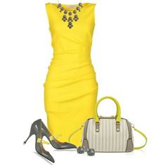 Love this yellow! #Style, #Fashion, #Clothes, #Work Flow, #Church Flow ...