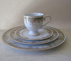 Noritake China Set - Morning Jewel, noritake china set, morning jewel via Etsy Dinner Sets, Dinner Table, China Sets, Noritake, China Dinnerware, Tea Cups, Porcelain, Dishes, Tableware