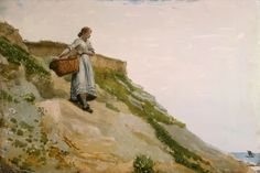 Girl Carrying a Basket 1882 ~ Winslow Homer ~ (American 1836-1910)