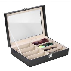 c6509aedeb 28.16  Watch now - Black Sunglasses Display Box Eyewear Glasses Case  Jewelry Ring Storage box