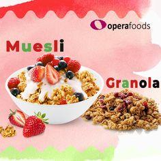 Which Is Healthier Granola or Muesli? Wholesale Food, Organic Granola, Bircher Muesli, Food Suppliers, Food Service, Healthy Breakfast Recipes, Gourmet Recipes, Cravings, Foods