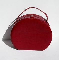 Burgundy Vintage Style Hatbox Purse