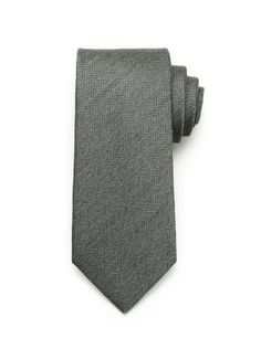 Silk Herringbone Tie - Grey (http://noeliasanchez.jhilburn.com/products/silk_herringbone_tie/grey) $89