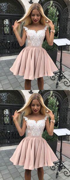 Sale Suitable A-Line Homecoming Dresses Outlet Feminine Pink Homecoming Dress, Homecoming Dress A-Line Grad Dresses Short, Cute Homecoming Dresses, Hoco Dresses, Junior Dresses, Dresses For Teens, Dance Dresses, Cheap Dresses, Pretty Dresses, Formal Dresses