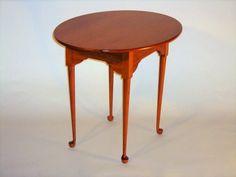 oval cherry tea table