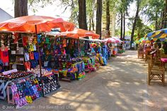 Kamala Beach, Phuket, Thailand. The small walkway between beach and hotels also has a small market.