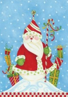 Toland Santa in Snow Garden Flag by Flags Online. $6.99. It is Permanently Dyed with a Vivid Color Process. Each has a sleeve at the top for easy pole mounting. The size of this flag is 18 x 12.5 inches. It is weather proof and fade and mildew resistant. This flag is of the highest quality and is made by Toland Home and Garden. This flag is usually shipped in 1-5 business days.