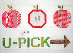 Fabulous apple picking sign! patchwork, quilting, sewing, craft