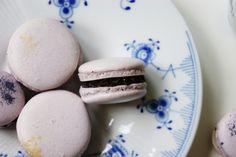 Macarons med chokoladeganache