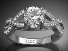 Infinity Love Platinum Diamond Engagement Ring 0.48 tcw.