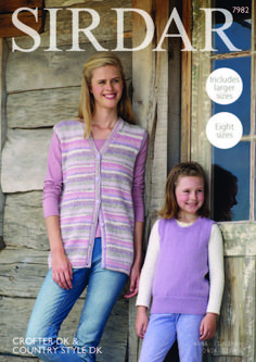 Tank Top and Waistcoat in Sirdar Crofter DK & Country Style DK - 7982 - Leaflet. Discover more patterns by Sirdar at LoveKnitting. The world's largest range of knitting supplies - we stock patterns, yarn, needles and books from all of your favourite brand