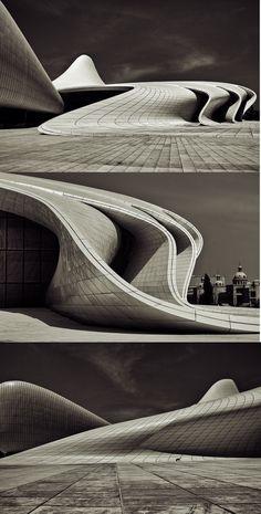 """Heydar Aliyev Center"" à Baku, Azerbaijan de l'architecte irako-britannique…"