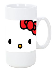 Cute Kitty Face Red Ribbon Design Print Image Big 20 ounce Ceramic Coffee Mug Tea Cup by Trendy Accessories >>> Quickly view this special cat product, click the image : Cat mug