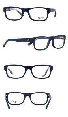 Eyeglass Frames  New 100% Authentic Ray- Ban Unisex Eyeglasses Rb5268 5583  Sand Blue 721d680ac600