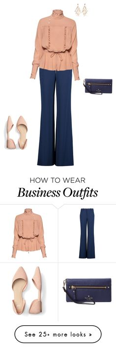 """Work Wear"" by chelseahairston on Polyvore featuring Alice + Olivia, Stella Jean, Noir Jewelry and Kate Spade"