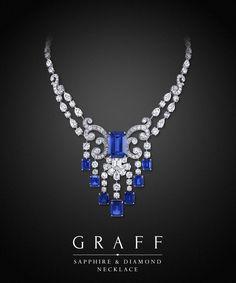 Pin by Misha Alexis on Bijouterie de Luxe Graff Jewelry, Gems Jewelry, Luxury Jewelry, Bling Jewelry, Wire Jewelry, Wedding Jewelry, Sapphire Necklace, Sapphire Jewelry, Sapphire Diamond