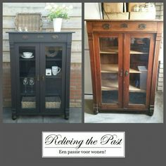 Reliving the Past Annie Sloan Chalk Paint Furniture, Painted Furniture, Couch Furniture, Black Furniture, Reclaimed Furniture, Repurposed Furniture, Antique Armoire, Kitchen Dresser, Pallet Crafts