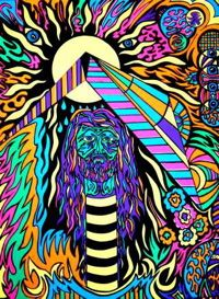 ☮ American Hippie Psychedelic Art ~ Blacklight
