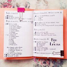 Je teste le Bullet journal!  #bulletjournal #bujo #filofax #planner #agenda #organizer #midoritravellersnotebook #midori #happiedori #fauxdori #listersgottalist #list