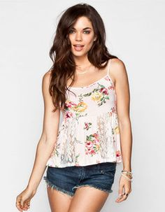#Floral #Print #Lace #Inset #Womens #Babydoll