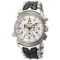 a4b323a0b68 Relógio Oakley Men s 10-058 12 Gauge Chronograph Stainless Steel Bracelet  Edition Watch  Relogios