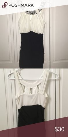 Black/White Gemmed Party Dress Bought in Macy's. I am 4'8 and this fits pretty short, I think it's for shorter people. City Studio Dresses Mini