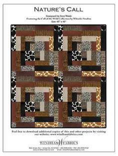 Once Upon A Time by John Kubiniec   Free Patterns   Pinterest ... : animal print quilt patterns - Adamdwight.com