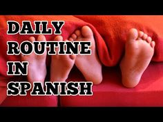 La rutina diaria en español -- this video will teach you how to talk about your daily routine in Spanish using common Spanish reflexive verbs and activities. It shows some basic daily activities in Spanish, how to conjugate reflexive verbs and lots of examples.