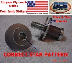 1970 71 72 73 74 75 76 Dart Duster Demon A Body Door Jamb Striker 3454485 MoPar #DalesCudaShop