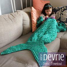 Zeemeermin staart deken BREIEN PATROON Mermaid door MadeByDevrie