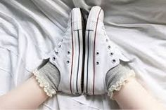 Converses and frilly socks