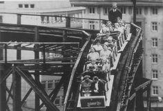 Vuoristorata - old roller coaster ride at Linnanmäki  Amusement Park, Helsinki (one of the oldest roller coasters running in the world)
