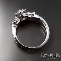 Unique diamond ring design zorandesignscom Custom Jewelry