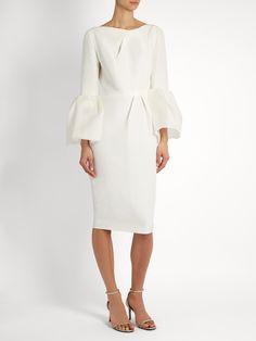 Margot bell-sleeved dupion dress | Roksanda | MATCHESFASHION.COM
