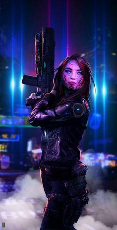 Our Modern Moths Cyberpunk Characters by Shai Daniel Cyberpunk 2077, Cyberpunk Girl, Cyberpunk Tattoo, Cyberpunk Fashion, Character Inspiration, Character Art, Character Concept, Concept Art, Vaporwave